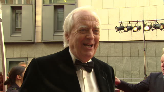 exterior interview with lyricist sir tim rice on the red carpet for the lawrence olivier awards sir tim rice interview on the red carpet on april 15... - tim rice stock videos and b-roll footage