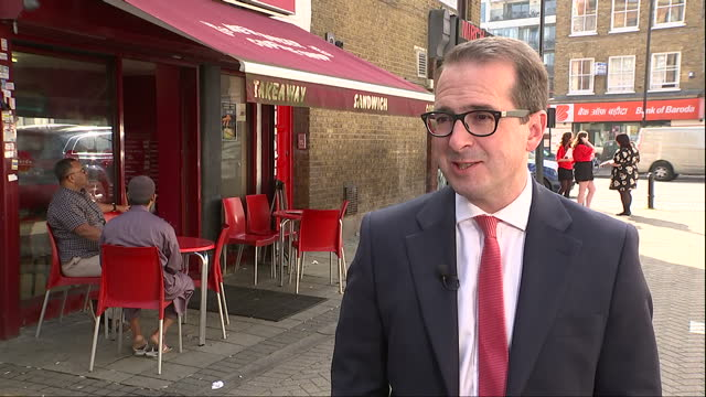 exterior interview with owen smith mp labour leadership candidate about the closing of the polls in labour leadership election on september 21 2016... - owen smith politician stock videos & royalty-free footage