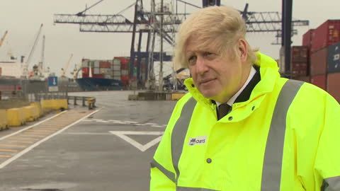 exterior interview with prime minister boris johnson on nhs pay and the treasury move to darlington, claiming his 'ancestors' came from darlington on... - darlington north east england stock videos & royalty-free footage