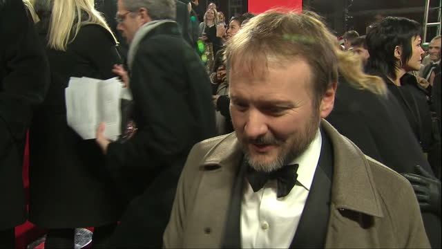 Exterior interview with Rian Johnson Dirtector at the European Premiere of Star Wars The Last Jedi outside the Royal Albert Hall on 12th December...