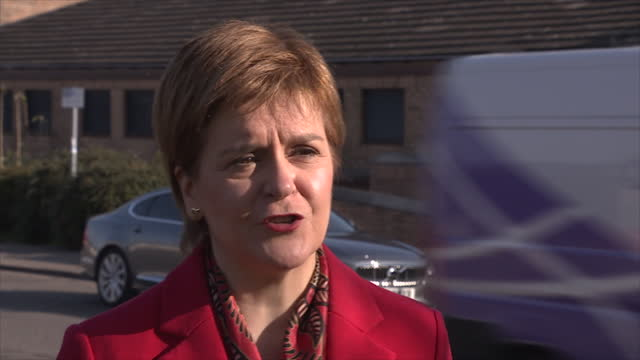 exterior interview with scottish first minister nicola sturgeon msp on nhs dental charges on 16 april 2021 in glasgow, scotland - dental hygiene stock videos & royalty-free footage