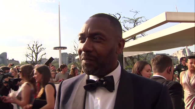 exterior interview with sir lenny henry on winning a special bafta award in recognition of his outstanding contribution to television. on may 08,... - lenny henry stock videos & royalty-free footage