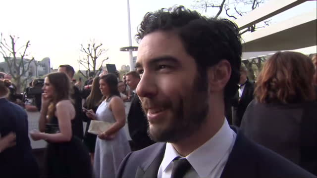 exterior interview with tahar rahim french actor on his work in films a prophet the last panthers on the bafta television awards red carpeton may 08... - prophet stock videos and b-roll footage
