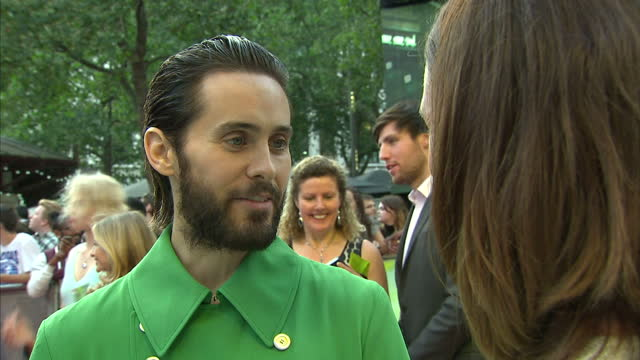 Exterior interview with the actor Jared Leto at the premiere of Suicide Squad on August 03 2016 in London England