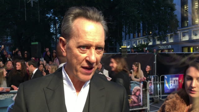 exterior interview with the actor richard e grant on the red carpet at the premiere of 'can you ever forgive me' on 16 november 2018 in london,... - richard e. grant stock videos & royalty-free footage
