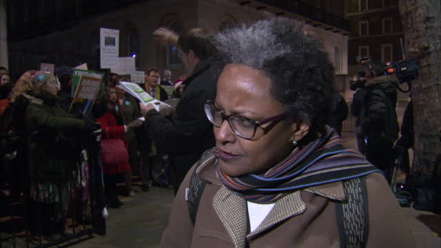Exterior interview with Yemi Hailemariam partner of Andy Tsege a British man imprisoned in Ethiopia speaking about the difficulties the family face...