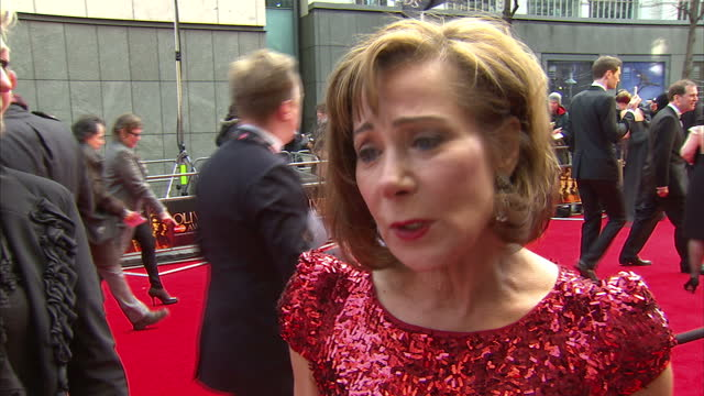 Exterior interview with Zoe Wanamaker on the red carpet at the Laurence Olivier Awards Zoe Wanamaker Interview at the Olivier Awards on April 15 2012...