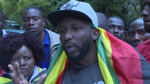 exterior interviews with supporters of pastor evan mawarire outside of court on july 13 2016 in harare zimbabwe - pastor stock videos & royalty-free footage