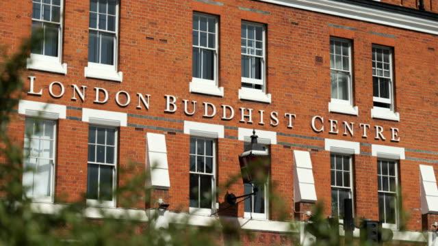 exterior london buddhist centre - コミュニティセンター点の映像素材/bロール