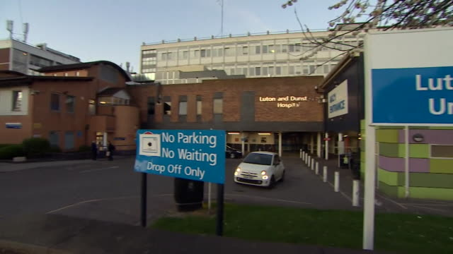 exterior luton and dunstable hospital during the coronavirus crisis - flatten the curve stock videos & royalty-free footage