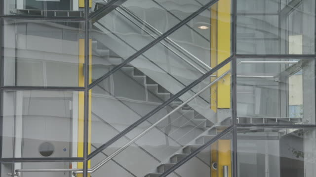 exterior modern office block, lift and stairwell - staircase stock videos & royalty-free footage