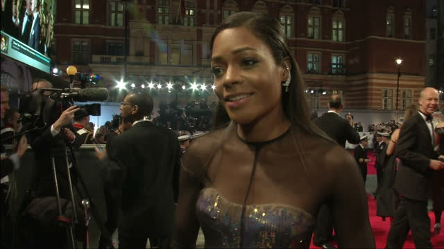 exterior night shots naomie harris speaks about daniel craig her role as a bond girl naomie harris on her role as a bond girl on october 23 2012 in... - bond girl fictional character stock videos & royalty-free footage