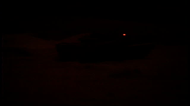 exterior night shots of british tanks and armoured vehicles from the 7th armoured brigade also known as the 'desert rats' taking part in a live... - armoured vehicle stock videos & royalty-free footage