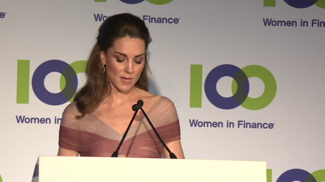 exterior night shots of catherine duchess of cambridge giving a speech at gala dinner in aid of 'mentally healthy schools' at the victoria and albert... - キャサリン妃点の映像素材/bロール