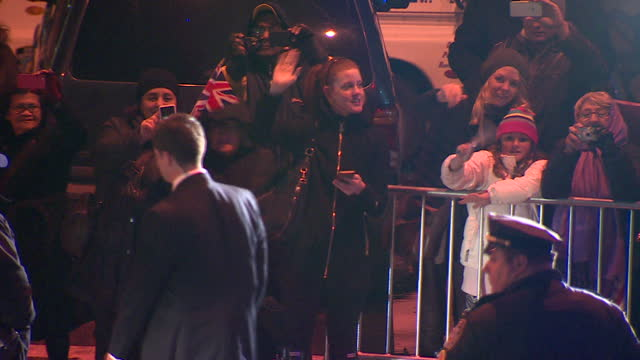 exterior night shots of the duke and duchess of cambridge departing from the metropolitan museum of art after attending the st andrews 600th... - gala stock videos and b-roll footage
