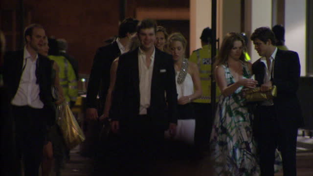 Exterior night shots royal wedding guests arriving back at The Goring Hotel including Pippa Middleton Royal Wedding Guests After Evening Do on April...