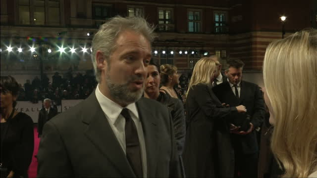 exterior night shots sam mendes director of skyfall speaks about the premiere sam mendes talks about the skyfall premiere on october 23 2012 in... - skyfall 2012 film stock videos and b-roll footage