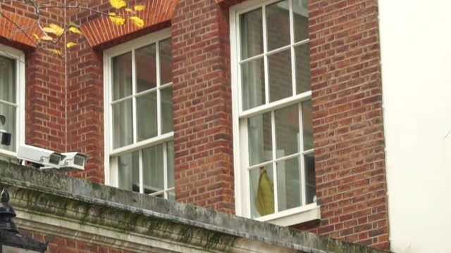 exterior of 10 downing street flat, in day and night, where prime minister boris johnson is self isolating after coming into contact with mp who... - epidemic stock videos & royalty-free footage