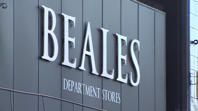 exterior of beales department store that has gone into administration bournemouth - buying stock videos & royalty-free footage