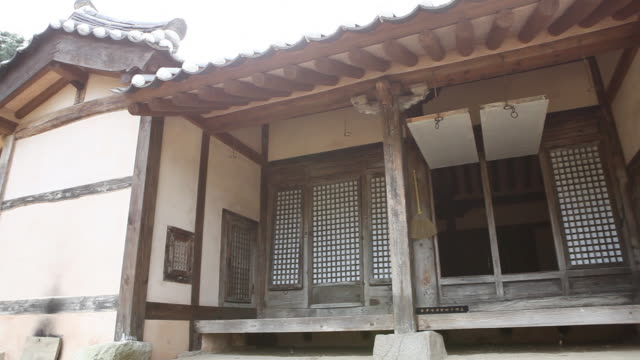 stockvideo's en b-roll-footage met exterior of birthplace at house of maeng sa-seong(korea historic place 109) - geboren in