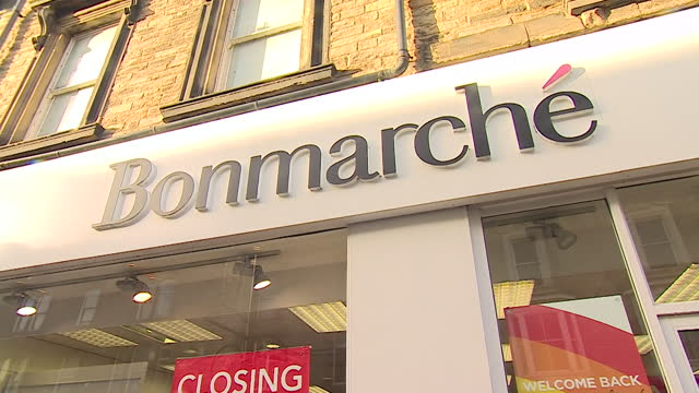 exterior of bonmarche that has now gone into administration - clothes shop stock videos & royalty-free footage