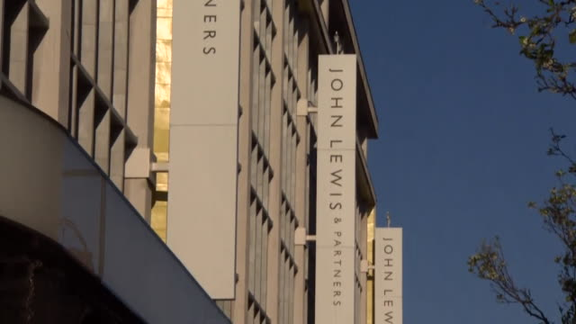 """exterior of branch of john lewis london - """"bbc news"""" stock videos & royalty-free footage"""