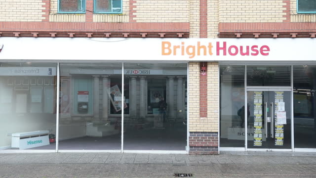exterior of bright house closed store in aldershot, petersfield, uk on monday, august 25, 2020. as britain enters a period of deep recession, with... - {{asset.href}} stock-videos und b-roll-filmmaterial