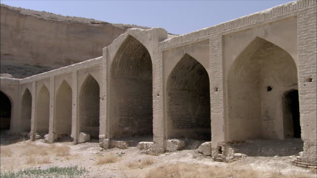 ws exterior of caravanserai, iran - inn stock videos & royalty-free footage