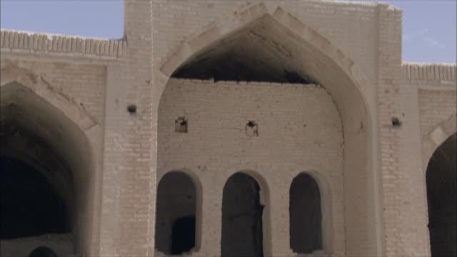 ms tu exterior of caravanserai, iran - inn stock videos & royalty-free footage