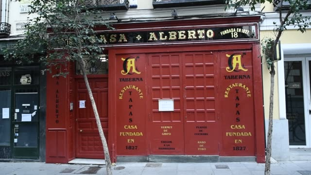 exterior of casa alberto which is part of the association of centuryold restaurants and taverns which has been created by a total of twelve... - bar drink establishment stock videos & royalty-free footage
