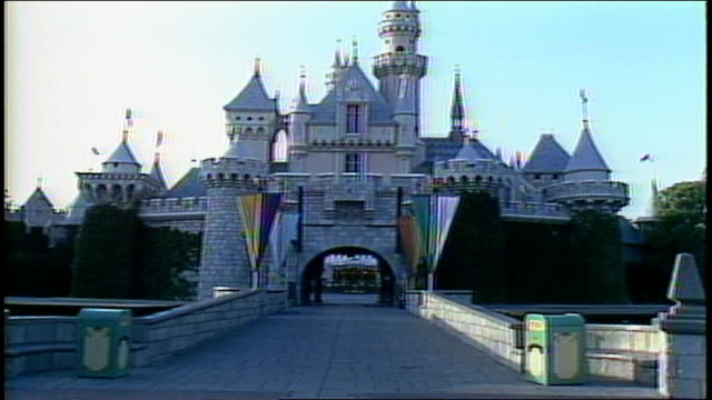 Exterior of Castle at Disneyland in Anaheim California