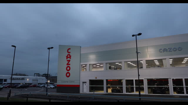 exterior of cazoo ltd. customer center in southampton, hampshire, u.k., on thursday, march 18, 2021. - western script stock videos & royalty-free footage
