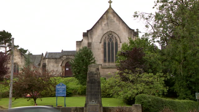 exterior of church as churches in scotland reopen for services following the coronavirus lockdown - church stock videos & royalty-free footage