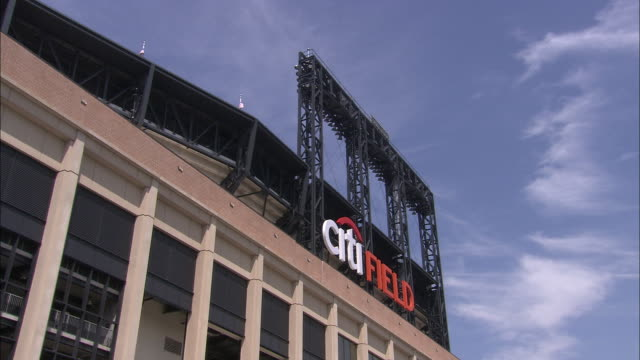 ws la exterior of citi field baseball stadium / flushing, queens, new york, usa - flushing meadows corona park stock videos and b-roll footage
