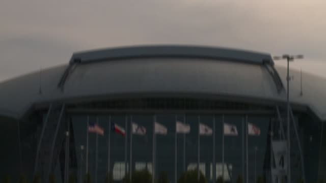 exterior of cowboy stadium on may 17, 2011 in dallas, texas - nfc east stock videos & royalty-free footage