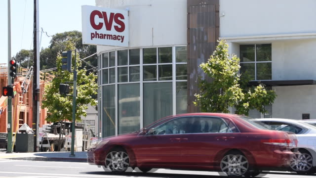 exterior of cvs health corporation stores in oakland, california, u.s., on friday, august 2, 2019. - cvs caremark stock videos & royalty-free footage