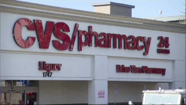 exterior of cvs pharmacy - cvs caremark stock videos & royalty-free footage