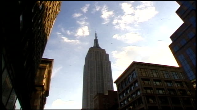 exterior of empire state building and street below - midtown manhattan stock videos & royalty-free footage