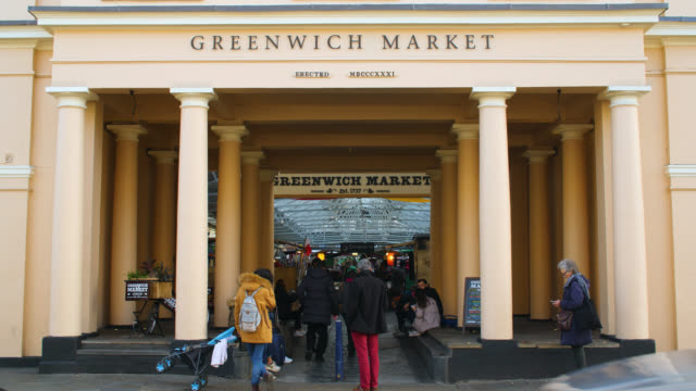 Exterior of entrance to Greenwich Market in London