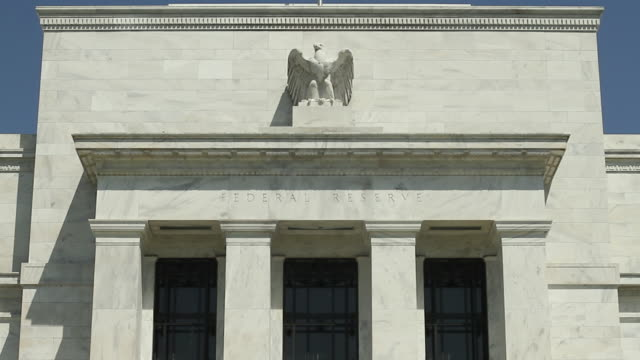 exterior of federal reserve headquarters / washington dc usa / audio - federal reserve stock videos & royalty-free footage