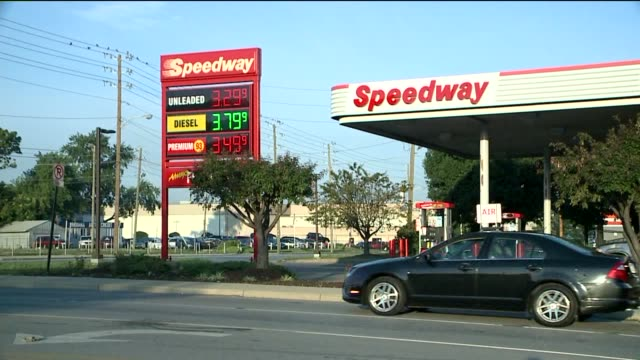 exterior of gas station and pump on august 12 2013 in indianapolis indiana - exxon stock videos & royalty-free footage