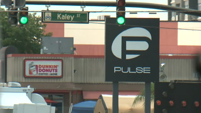 wxin exterior of gay night club pulse after mass shooting in orlando florida on june 13 2016 - homophobie stock-videos und b-roll-filmmaterial