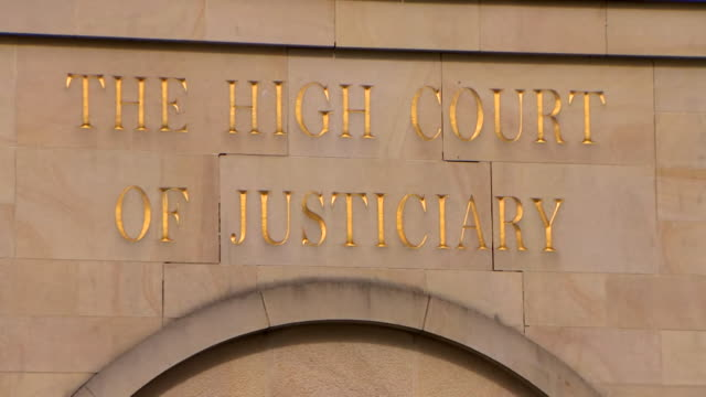 exterior of glasgow high court - legal system stock videos & royalty-free footage
