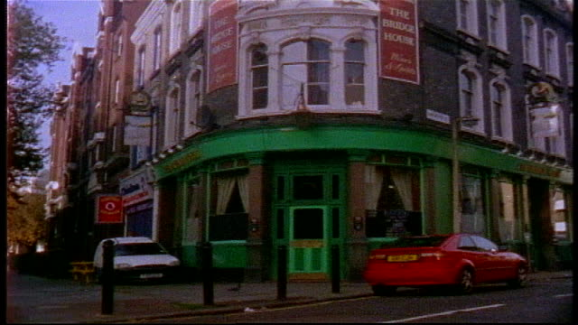 exterior of legendary venue the bridge house in london on super 8 film - 1998 stock videos & royalty-free footage