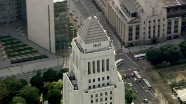 Exterior Of Los Angeles City Hall Building During The Day