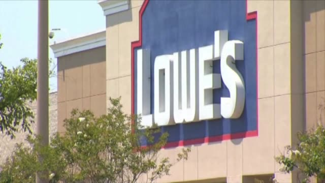 KTXL Exterior of Lowes Home Improvement Store and Delivery Trucks