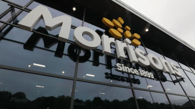exterior of morrisons supermarket in st ives cambridgeshire uk on wednesday august 19 2020 - english language stock videos & royalty-free footage