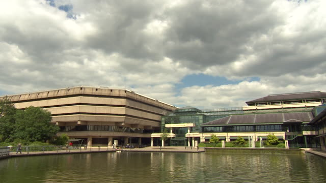 exterior of national archives at kew - bbc archives stock videos & royalty-free footage