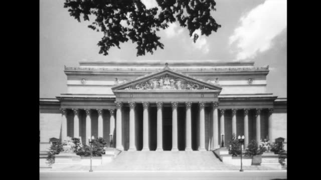 stockvideo's en b-roll-footage met exterior of national archives building in washington dc - national archives washington dc