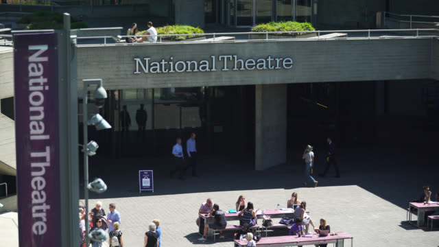 exterior of national theatre in london - theatre building stock videos & royalty-free footage
